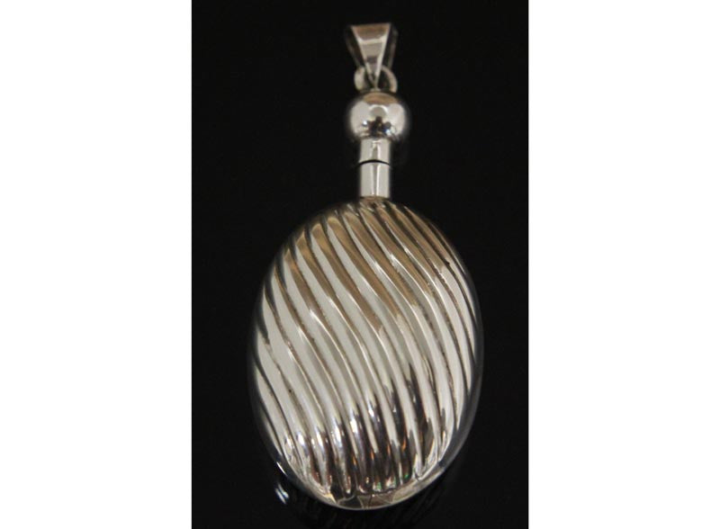 Sterling Silver Perfume Bottle Pendant