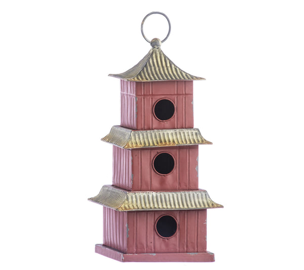 Red Temple Birdhouse