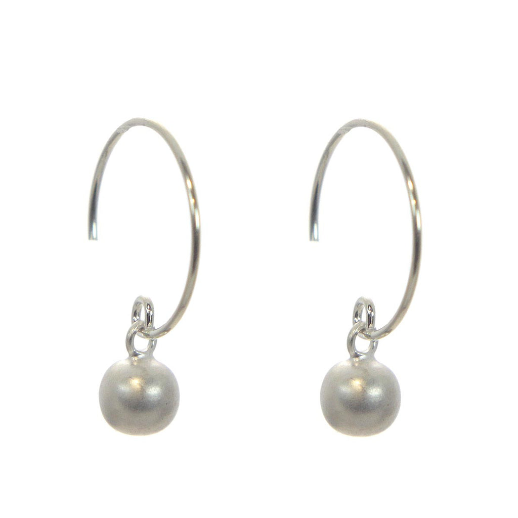 Sterling Silver Circular Earrings with Balls