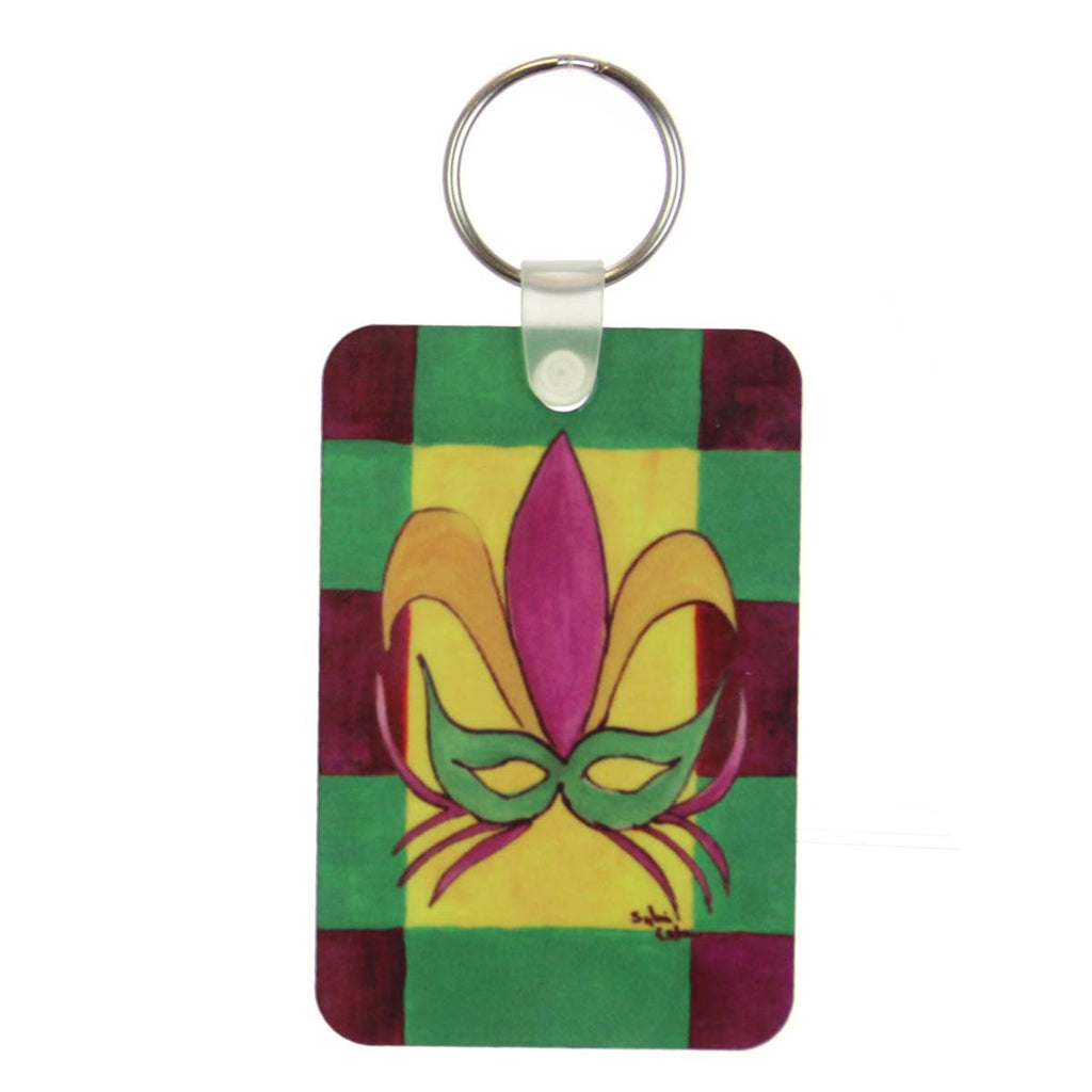Mardi Gras Mask Key Ring