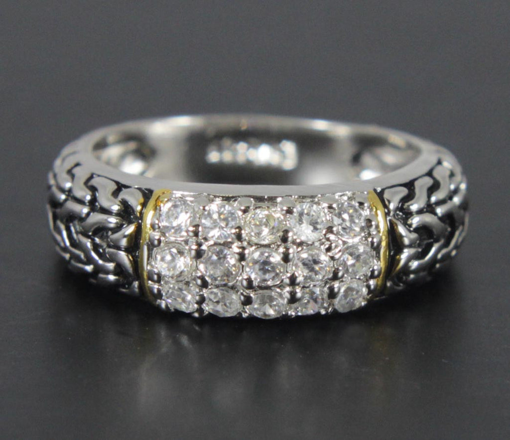Sterling Silver Diamond Zirconia Size 8