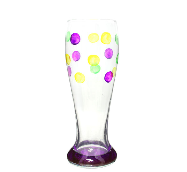 Beer Glass Mardi Gras Dots