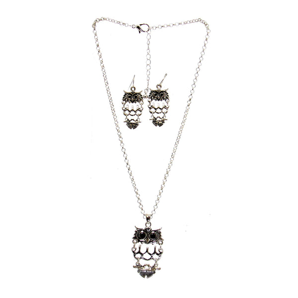 Owl Necklace & Earrings