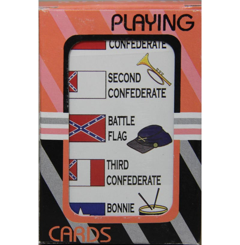 Playing Cards Confederate Flags