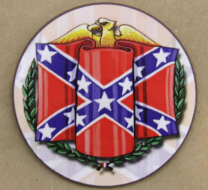 Coaster Confederate Battle Flag