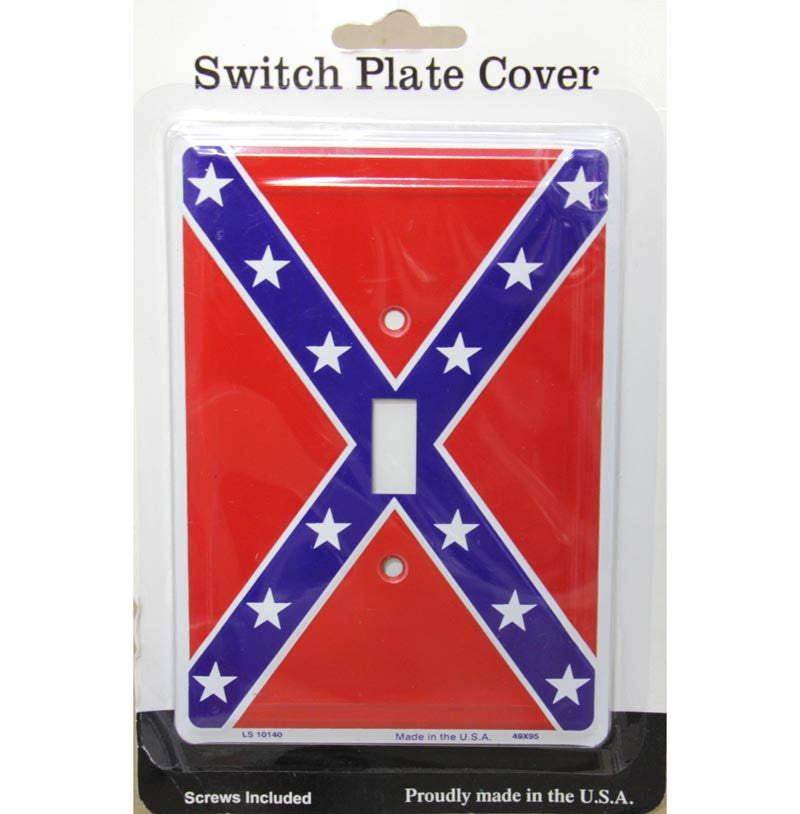 Switch Plate Cover Confederate Battle Flag