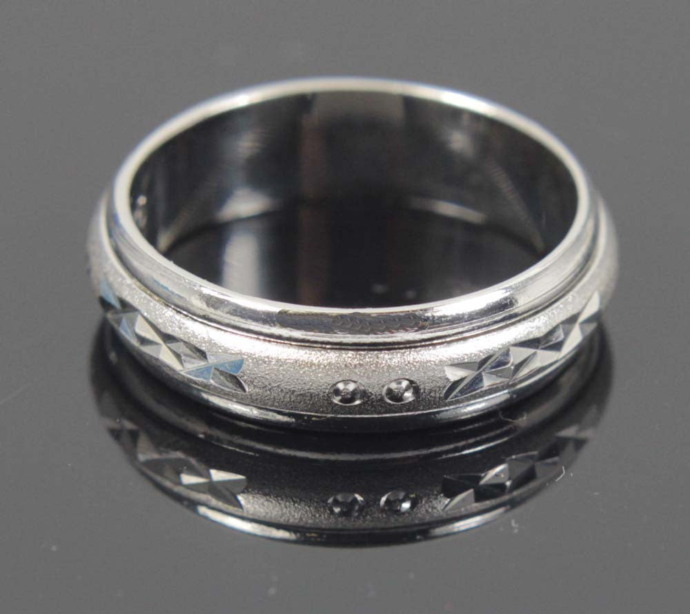 Sterling Silver Spinner Ring Brushed Sterling Size 8.5