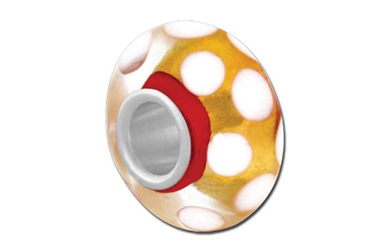 Hot Spots Glass Bead - Yellow