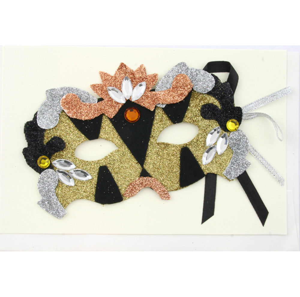 Mask Invitation Silver/Gold