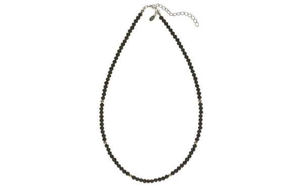 Glass Bead Necklace Black