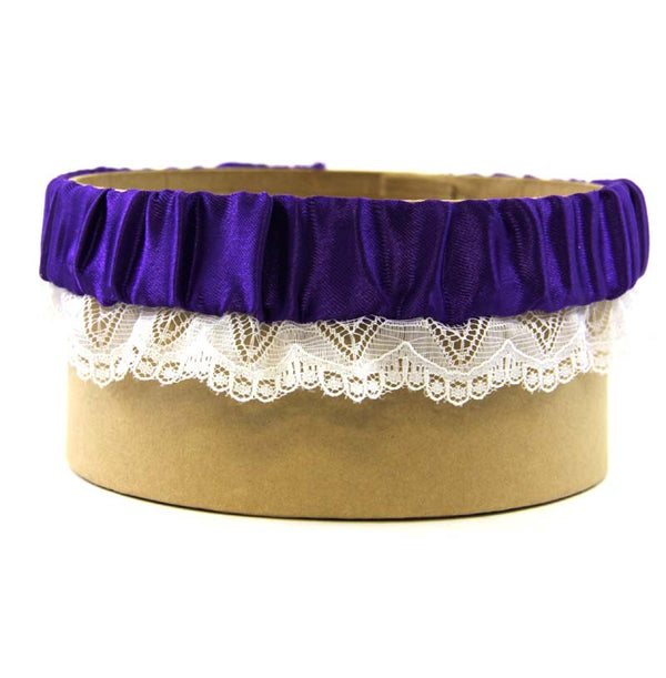 Garter Purple Lace