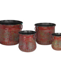 Planter Set of 4, Red Grapes