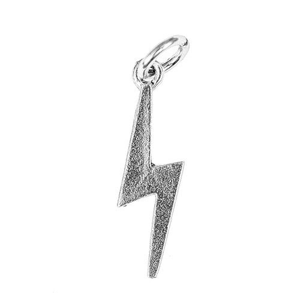 Lightning Bolt Silver Character Charm