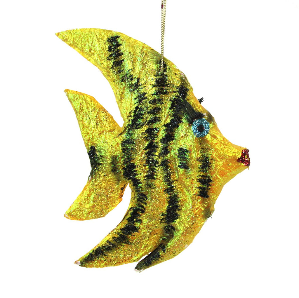 Angel Fish Ornament - Yellow