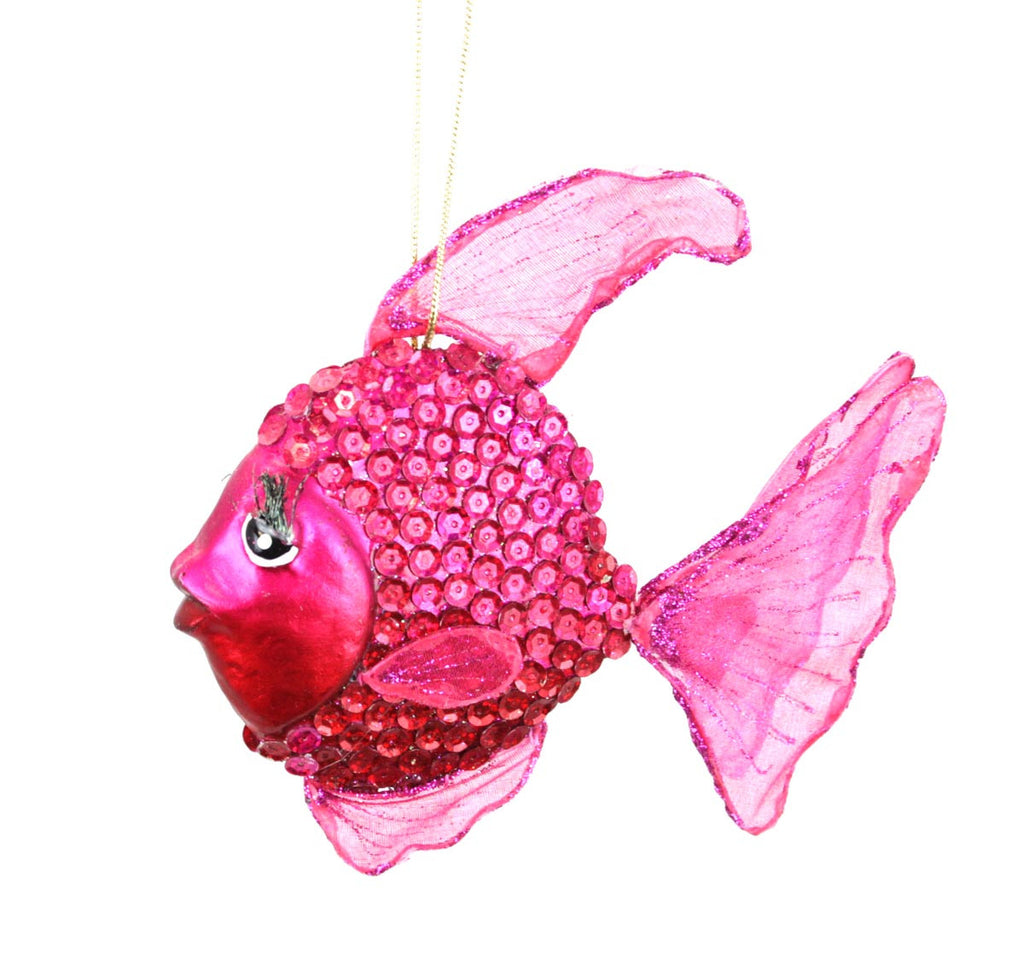 Fish Juliet Ornament Fuchsia