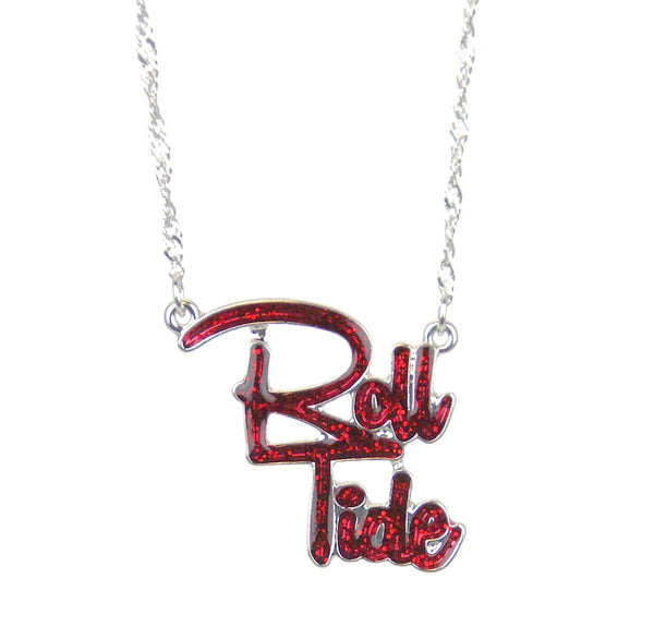 Roll Tide Slogan Necklace Alabama