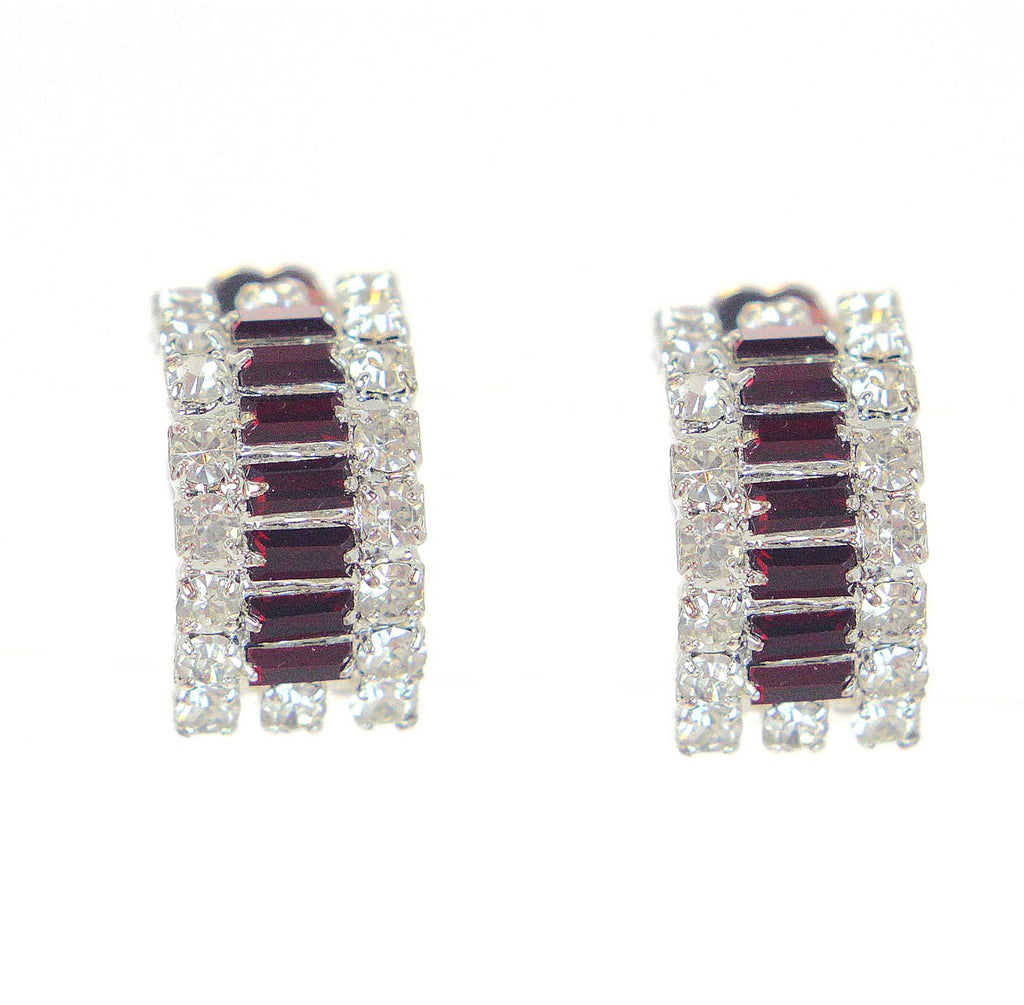 Ruby Clip Earrings