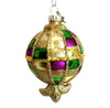 Glass Mardi Gras Round Ornament