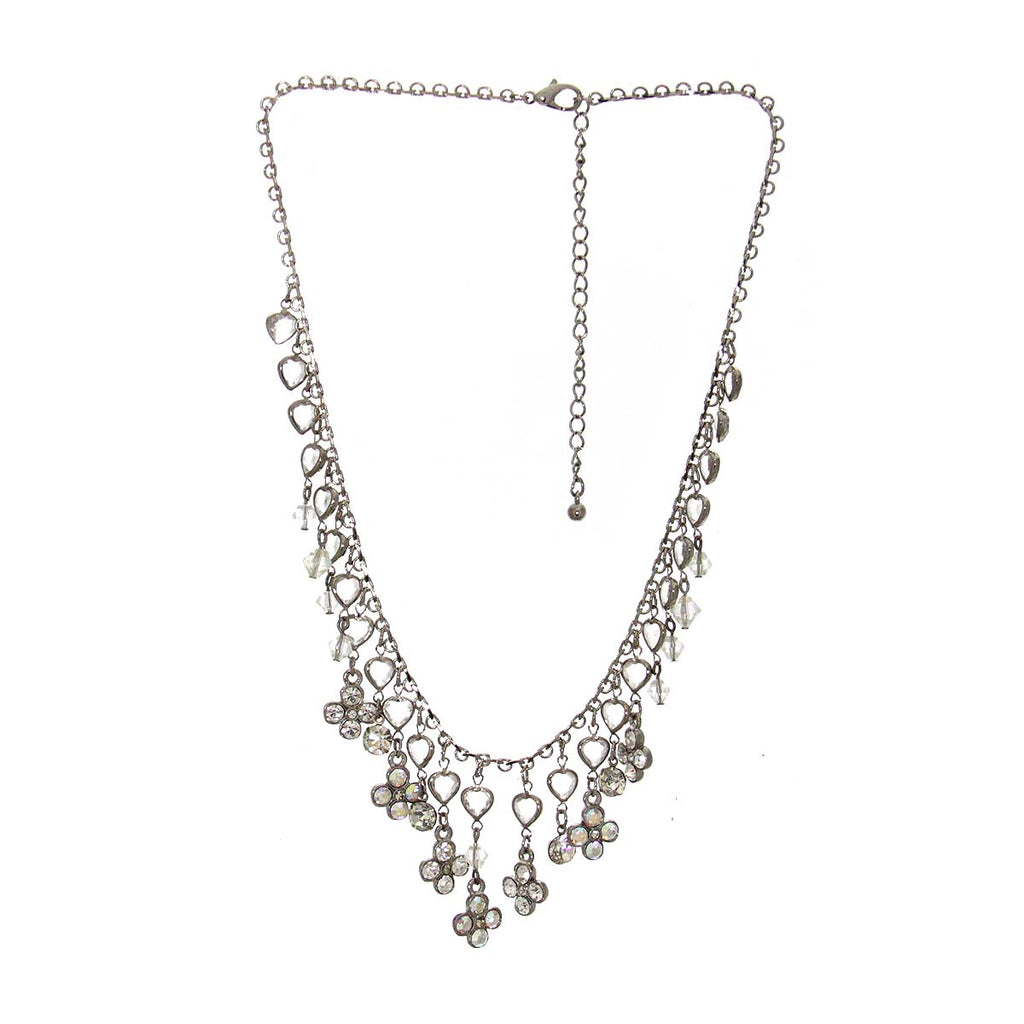 Rhinestone & Beaded Necklace