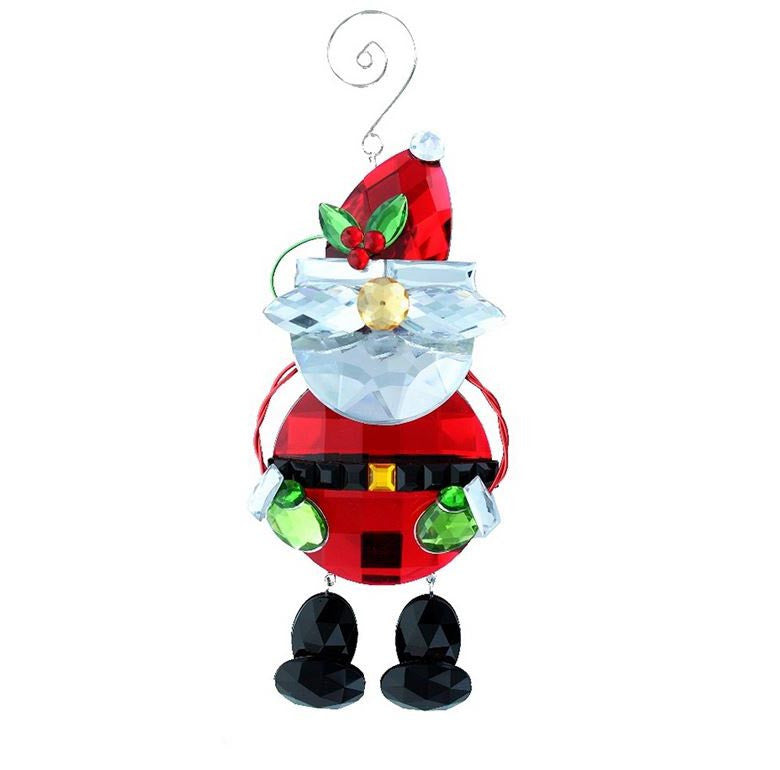 Acrylic Santa Ornament with legs