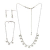 Rhinestone Necklace, Bracelet, & Earrings Jewelry Set