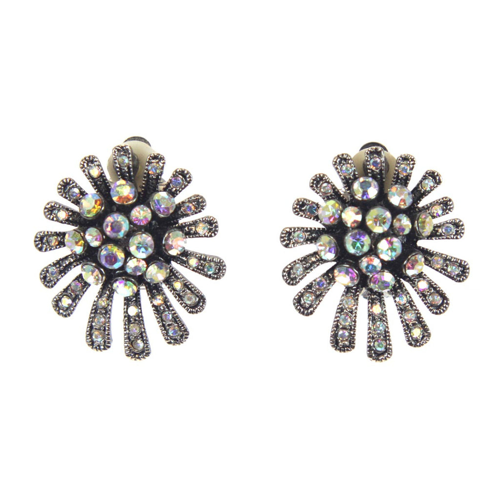 Fireworks Clip Earrings AB