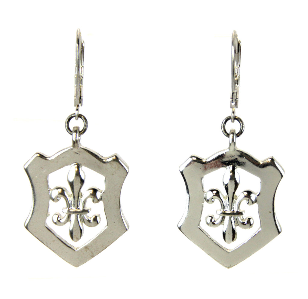 Fleur De Lis Earrings Shield
