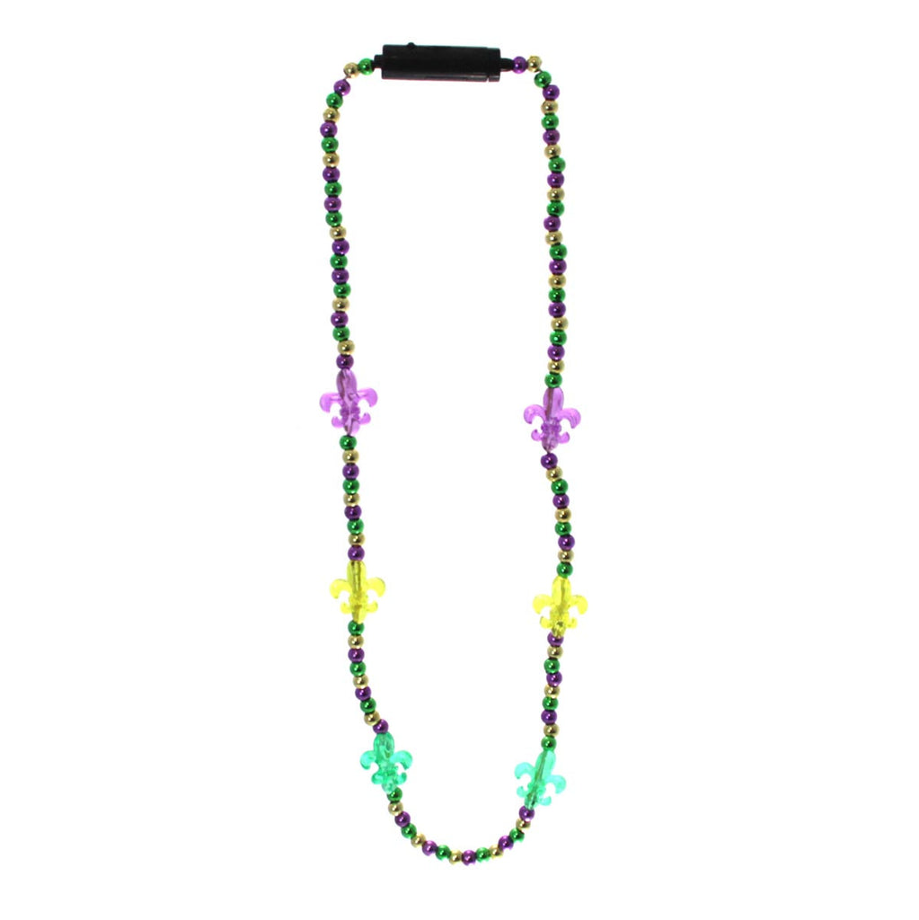 Light up Fleur-de-lis Mardi Gras Beads