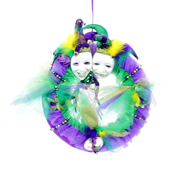 Mardi Gras Wreath with Masks