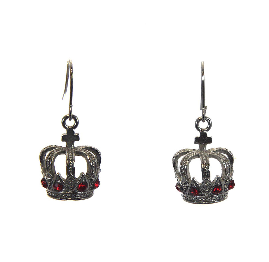 Crown Cross Earrings Siam
