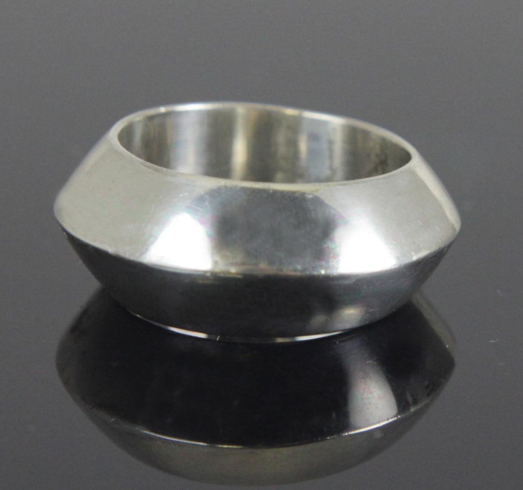 Sterling Silver Ring Angled Size 6