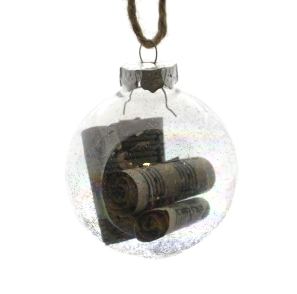 Glass Bulb with Scrolls of Music