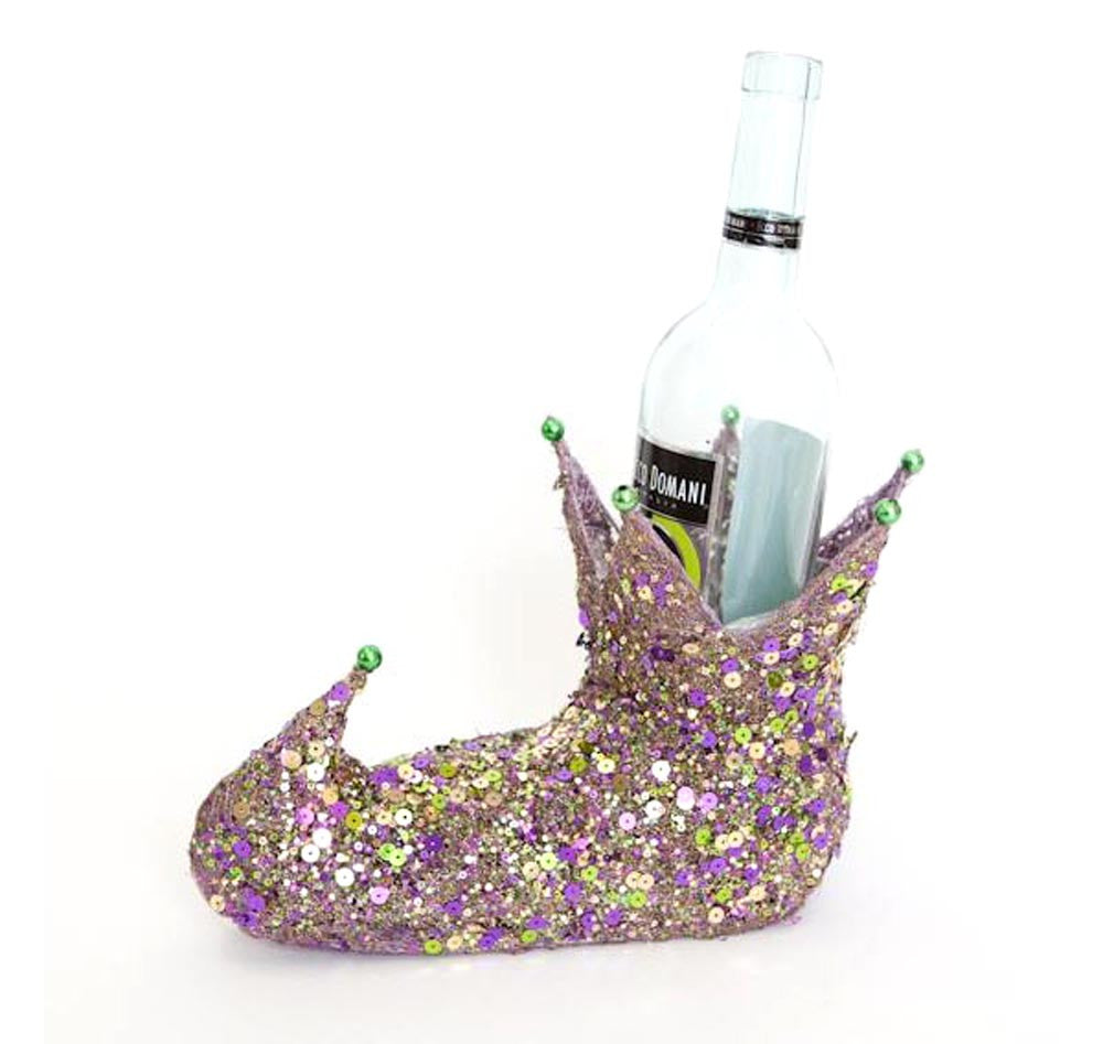 Jester Boot Wine Bottle Holder