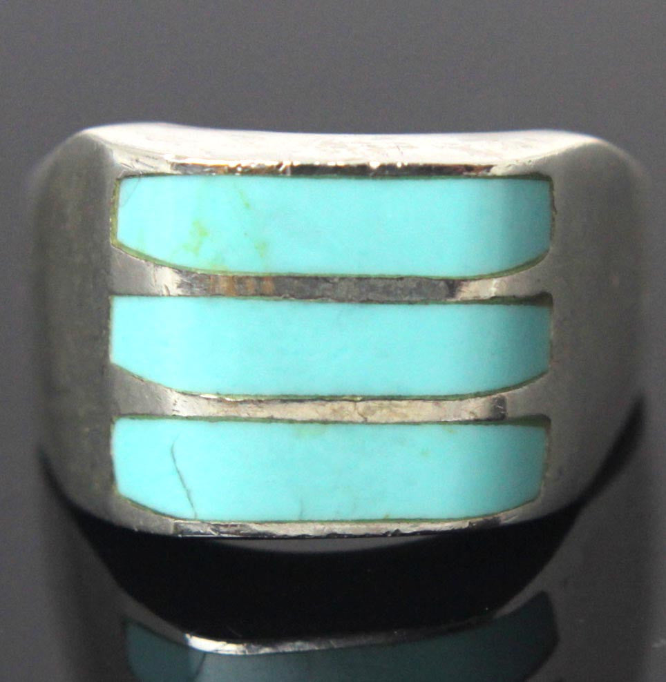 Sterling Silver Turquoise Ring Size 10