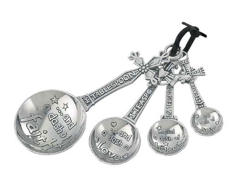 Measuring Spoons Cross Dash of Faith