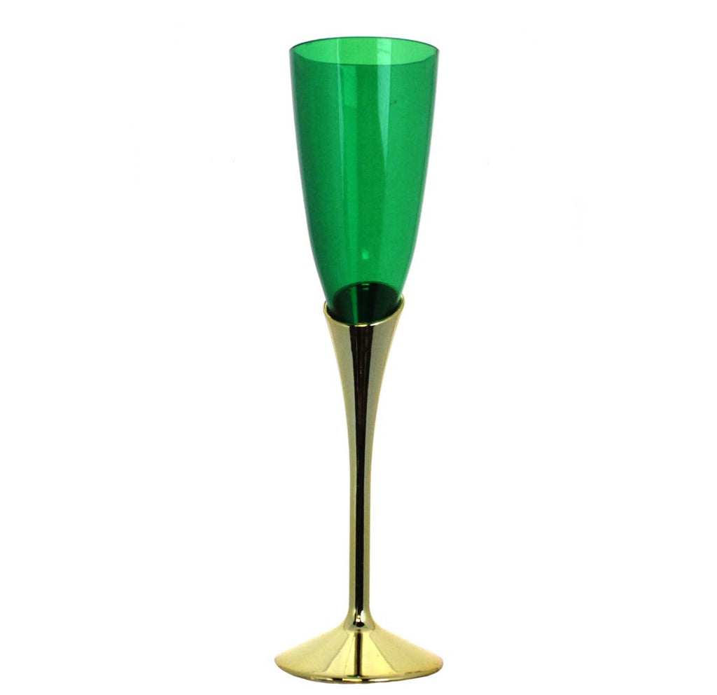 Acrylic Champagne Glass Green