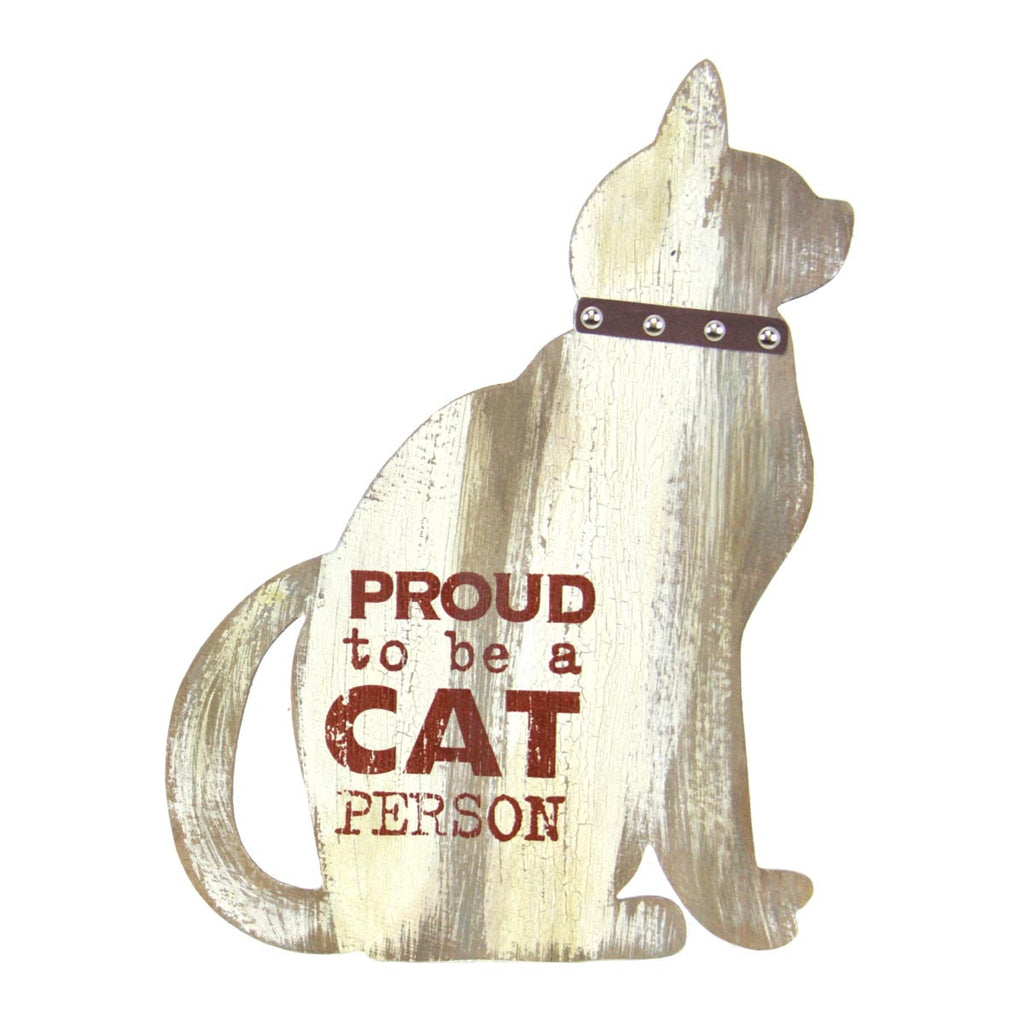 Cat Person Plaque