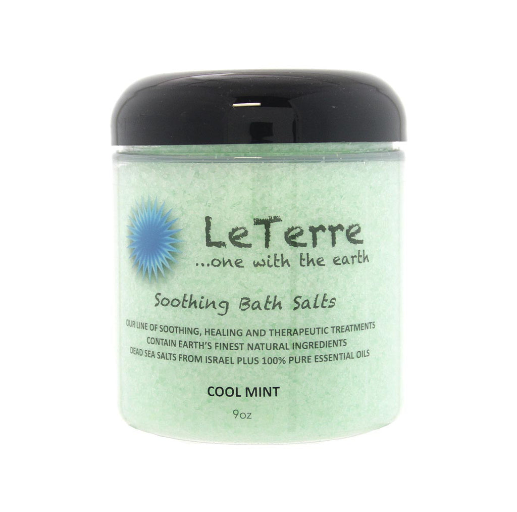 LeTerre Cool Mint Bath Salts 9oz