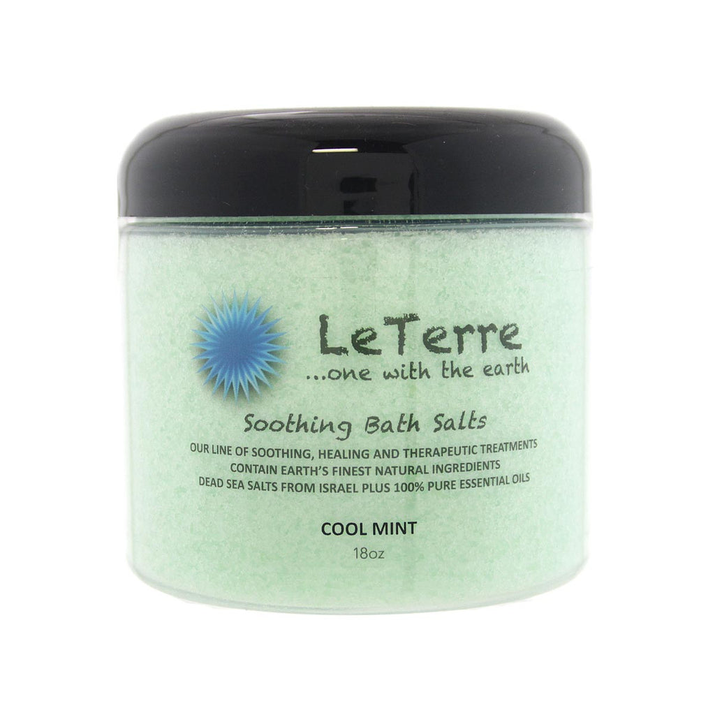 LeTerre Cool Mint Bath Salts 18oz