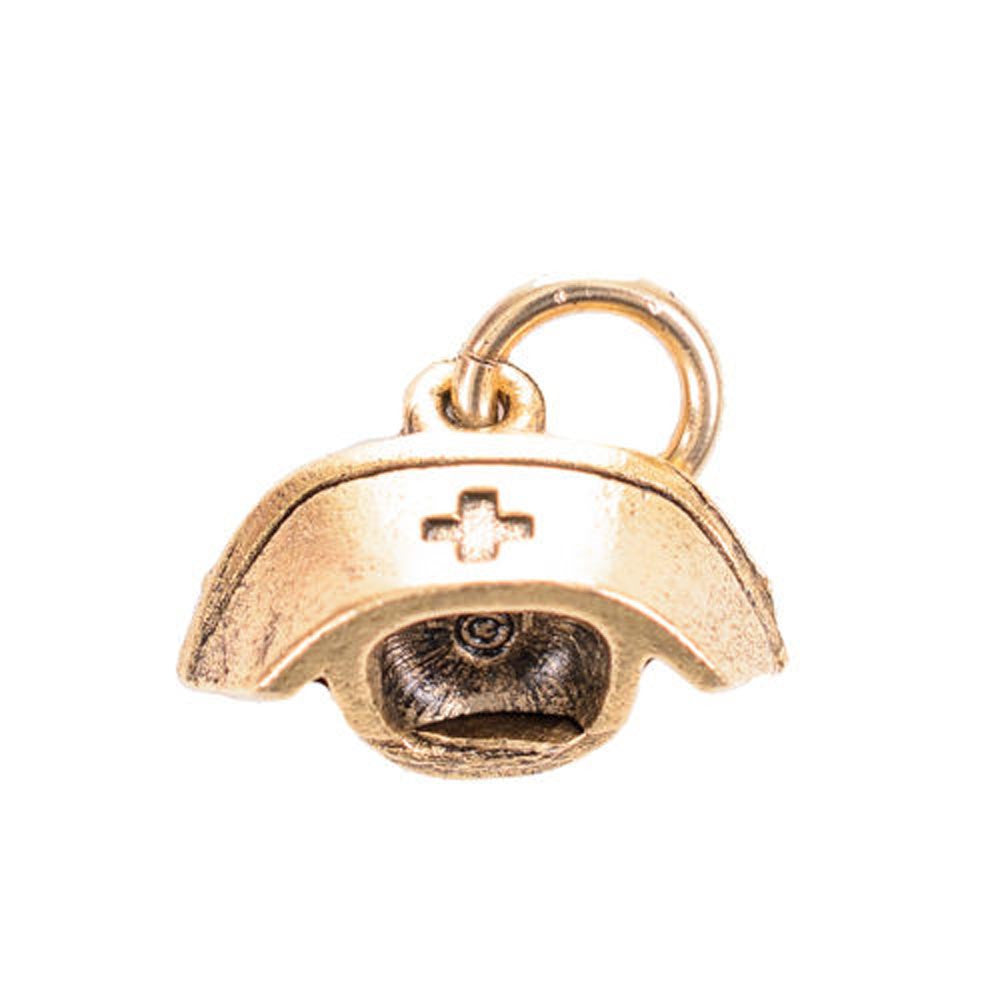 Nurse Hat Gold Character Charm