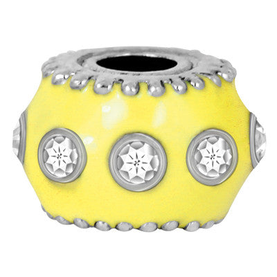 Yellow Enamel Bling LuTini Petite Yellow Glass Bead
