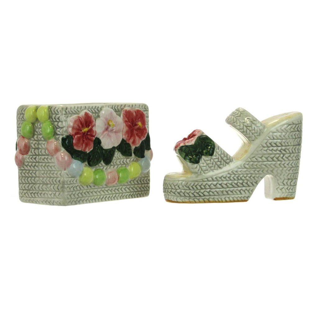 Salt and Pepper Shakers Flower Bag and Shoe