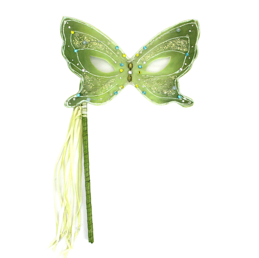 Butterfly Mask On Stick Green