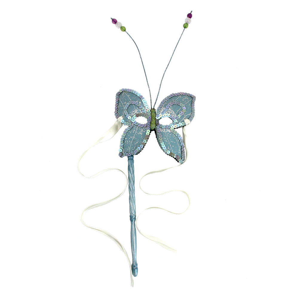 Butterfly Resin Mask On Stick Blue