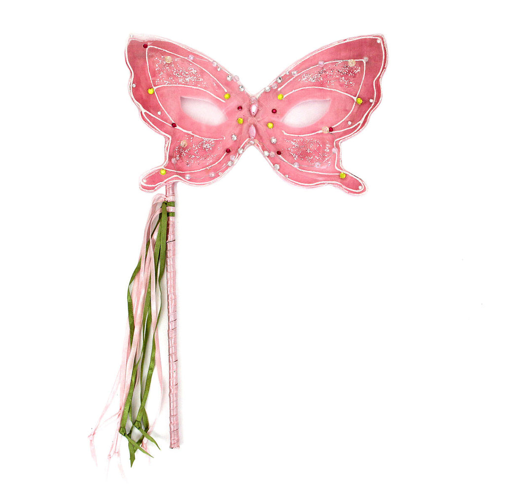 Butterfly Mask On Stick Pink
