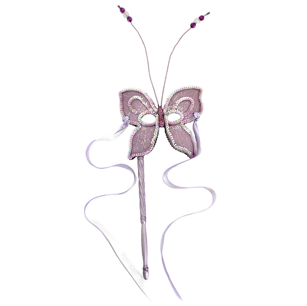 Butterfly Resin Mask On Stick Pink
