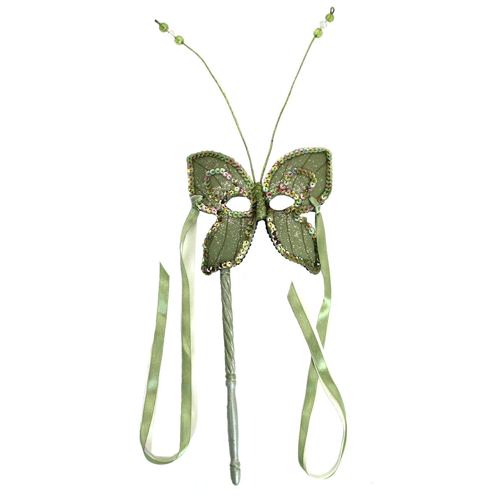 Butterfly Resin Mask On Stick Green