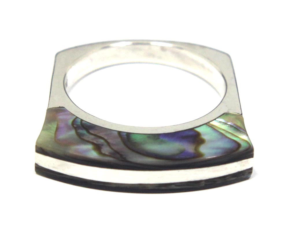 Sterling Silver Abalone Ring Size 8.5