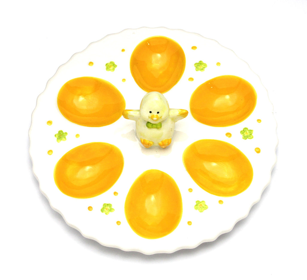 Egg Platter with Chick