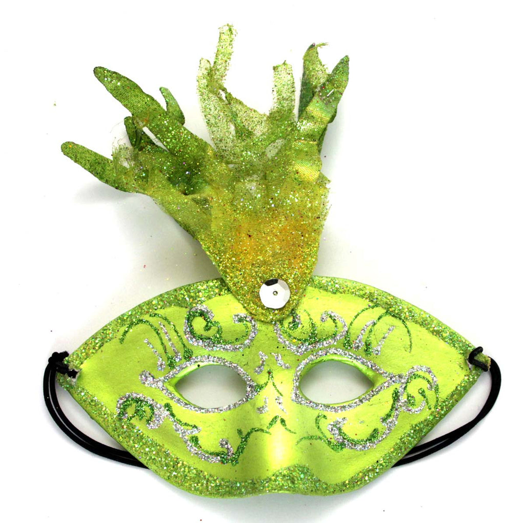 Fancy Mask Green Ornament